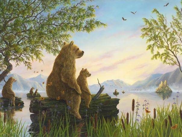 Роберт Биссел (Robert Bissell - британский художник, из под кисти которого выходят поистине необычные картины, где мир приоткрывается нам с... волшебного ракурса, если так можно сказать. Ведь