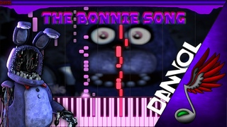 (FNaF Song) Groundbreaking - The Bonnie Song [Piano Tutorial by Danvol] - Synthesia HD