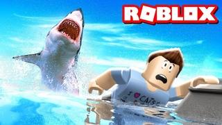 Как играть в ROBLOX !  SHARK BITE Part 03 !  СКОРОСТНОЙ КАТЕР !   НОВЫЕ СКИНЫ !  БИТВА с АКУЛАМИ !!!