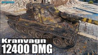 Танк УБИЙЦА 12,4к урона ✅ World of Tanks Kranvagn лучший бой