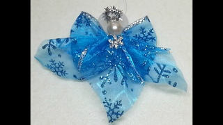 DIY~Make A Beautiful And Simple Blue Angel Ornament!