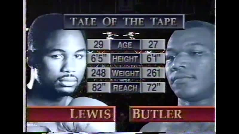 Lennox Lewis vs Lionel Butler HBO World Championship Boxing May 13 1995