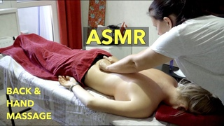 ASMR BACK and HAND OIL MASSAGE | relaxation for sleep