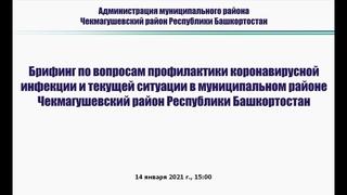 Брифинг Администрации МР Чекмагушевский район РБ по вопросам профилактики коронавирусной инфекции