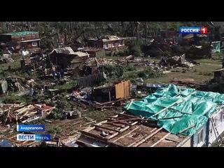 Новые кадры с места мощного урагана в Тверской области
