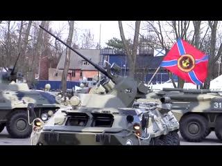 морпехи 336-й гвардейской бригады Балтийского флота станцевали вальс на БТР