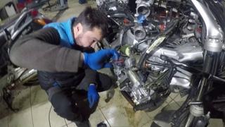 Ремонт Хонда ST1300 Pan European. Цепь ГРМ, топливные трубки. Repair Honda ST1300 Pan European