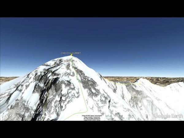 Восхождение на восьмитысячник Чо Ойю Cho Oyu 8188 м шестую по высоте вершину мира в подавляющем большинстве случаев проходит по стандартному маршруту проходящему по Западной стене горы со стороны Тибета