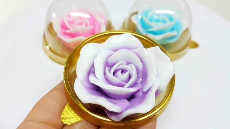 วุ้นแฟนซี I สอนทำวุ้นดอกกุหลาบหลากสี สว3618