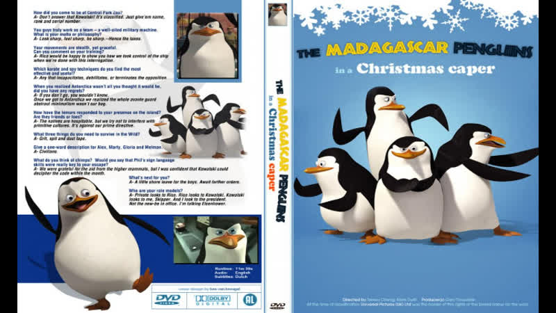 Пингвины из Мадагаскара в рождественских приключениях Видео 2005