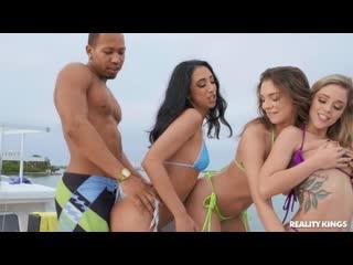 Kali Roses and Tiffany Watson - The Boat [All Sex, Hardcore, Blowjob, Gonzo]