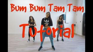 """""""BUM BUM TAM TAM"""" REGGAETON DANCE TUTORIAL - STEF WILLIAMS CHOREOGRAPHY"""
