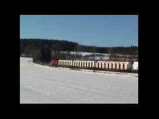 V180 der MEG im Thuringer Oberland Holzverkehr Teil 1 Dezember 2004 ecpaganini