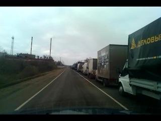 очередь малотоннажного транспорта в портк-Кавказ 16.12.14