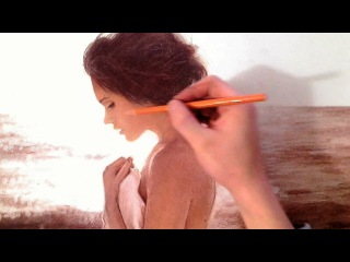 Girl by the Ocean - Realistic SkinTone Drawing Video