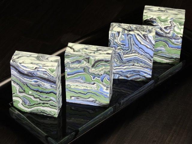 Azurite and Malachite by Black Cat Blues-Premium Hand Made Art Soap