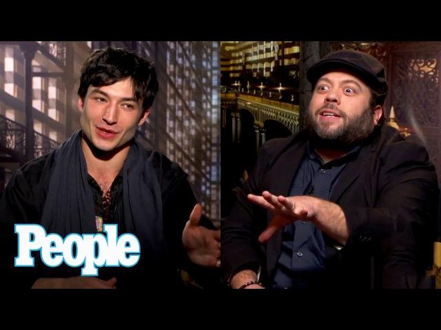 Fantastic Beasts: Ezra Miller Dan Fogler On Eddie Redmayne Spells On Set   People NOW   People