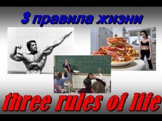 3 правила жизни/three rules of life