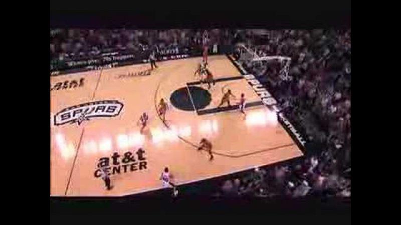 Tim Duncan clutch 3ptr in OT - Spurs 117 Suns 115 2OT (HD)