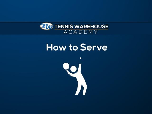 Подача в большом теннисе Техника