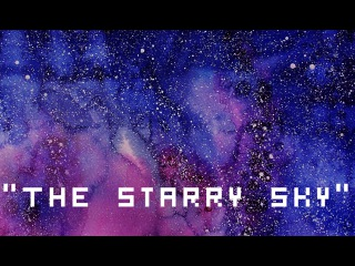 How to draw space?The Starry Sky. Watercolor painting tutorial/ Как рисовать космос? 空間水彩繪畫