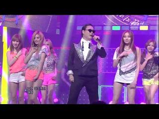 PSY - GANGNAM STYLE (ft. SISTAR, AFTER SCHOOL, KARA) Official 1080p LIVE!!!