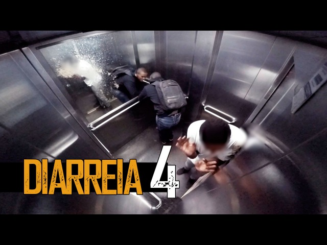 PEGADINHA:DIARREIA 4 no elevador (Diarrhea in the elevator Prank)