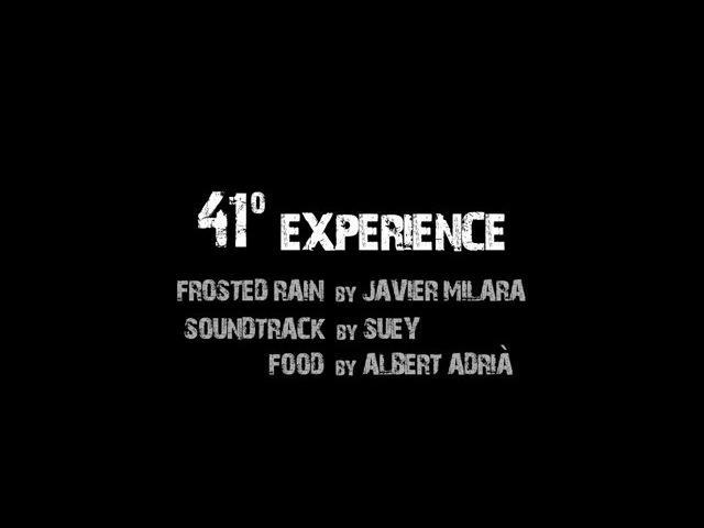 41º Experience Albert Adrià