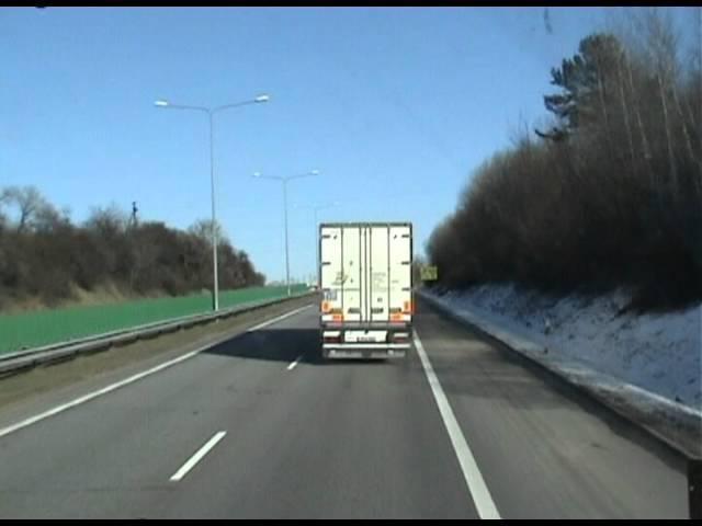В пути шофер дальнобойщик