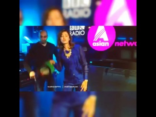 R A Y A N on Instagram: Nargis dancing and tapping at BBC radio . .     ب