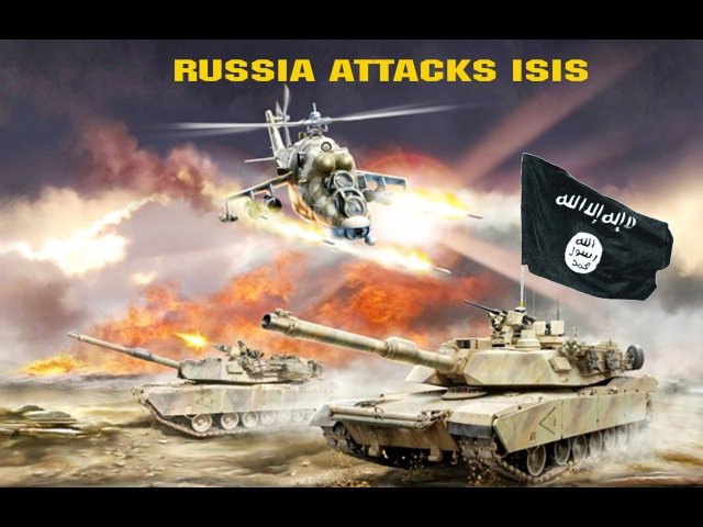 RUSSIA ATTACKS ISIS IN SYRIA launches airstrikes Daesh in Panic