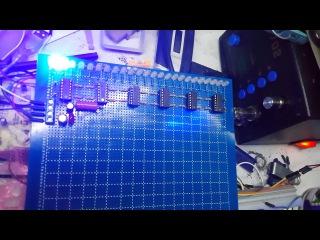 индикатор уровня LM324. 24 led. VU-meter