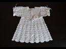 Крестильное платье крючком. Анонс Christening dress crochet