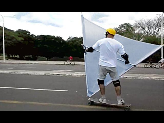 WindSkate Sail First Test Porto Alegre Brazil