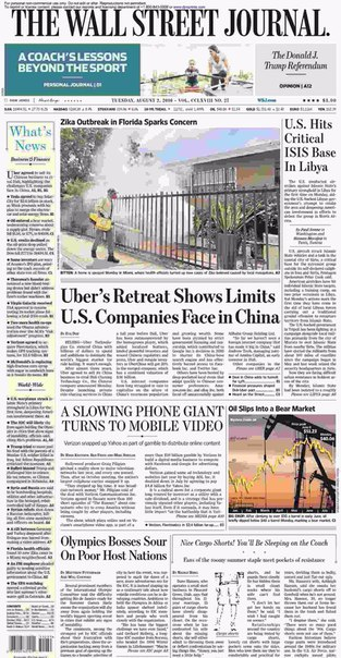 The Wall Street Journal  August 02 2016