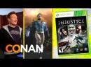Conan O'Brien Reviews Injustice: Gods Among Us - Clueless Gamer - Conan on TBS