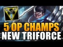 5 OP CHAMPIONS WITH NEW TRINITY FORCE League of Legends