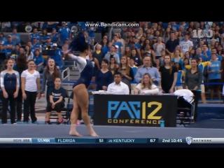Американская гимнастка станцевала хип-хоп во время выступления   sophina dejesus ucla floor 2016 vs utah [рифмы и панчи]