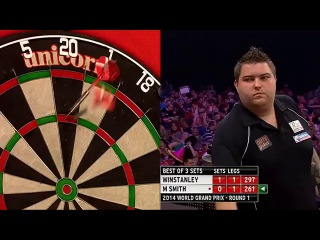 Dean Winstanley vs Michael Smith (World Grand Prix 2014 / First Round)