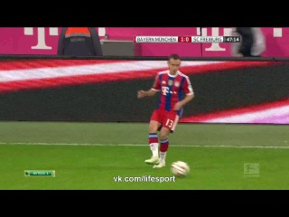 Бавария 2:0 Фрайбург | Бундеслига 2014/15 | 16-й тур  | Обзор матча