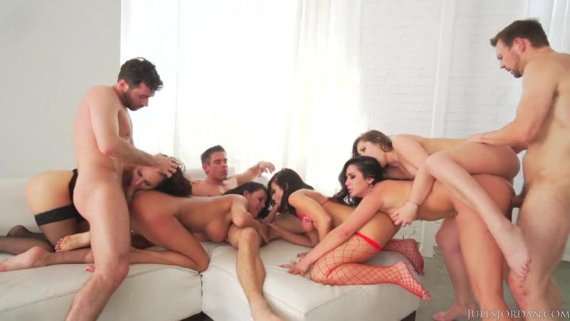 Adriana Chechik, Aidra Fox, Dani Daniels, James Deen, Karlee Grey, Peta Jensen - Orgy Masters Sex Par (2015) HD