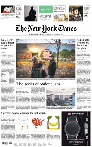 International New York Times 1819 March 2017 FreeMags