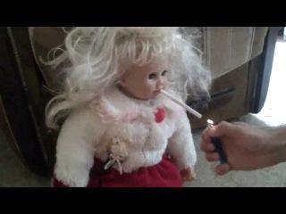 просто ПИЗДЕЦ))))непослушная кукла ахахах!!!