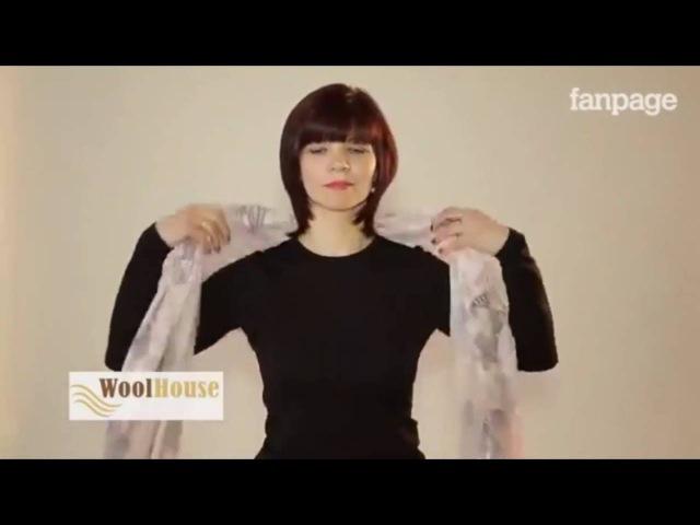 Как красиво завязать шарф или платок на шее Видео инструкция