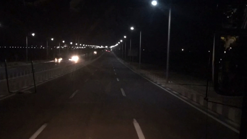 Day night on the egyptian roads