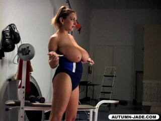 Autumn jade workin it out