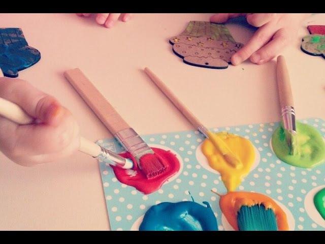 Кексики ♡ Розмальовки для дітей ♡ Пальчикові фарби ♡ Fingerpainting muffins ツ