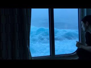 Вид во время шторма с номера на 3-ей палубе