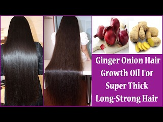 Ginger & Onion Hair Growth Oil For Super Thick-Long-Strong Hair | world's best hair growth secret