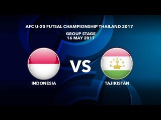 #AFCU20FC THAILAND 2017 - M08 Indonesia vs Tajikistan - Highlights